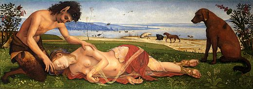 A Satyr Mourning Over A Nymph by Piero di Cosimo, c.1495