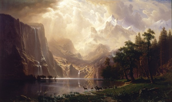 Among The Sierra Nevada Mountains – Albert Bierstadt