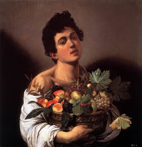 Boy with a Basket of Fruit – Michelangelo Merisi da Caravaggio
