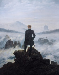 The Wanderer Above the Sea of Fog - Caspar David Friedrich