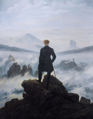 The Wanderer Above the Sea of Fog - Caspar David Friedrich