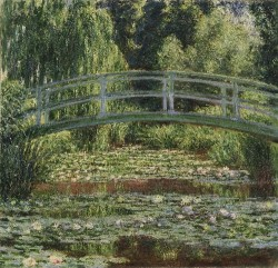The Japanese Footbridge - Claude Monet