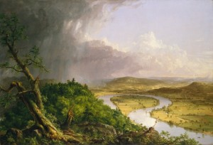 View from Mount Holyoke Northampton Massachusetts after a Thunderstorm - The Oxbow (1836) - Thomas Cole