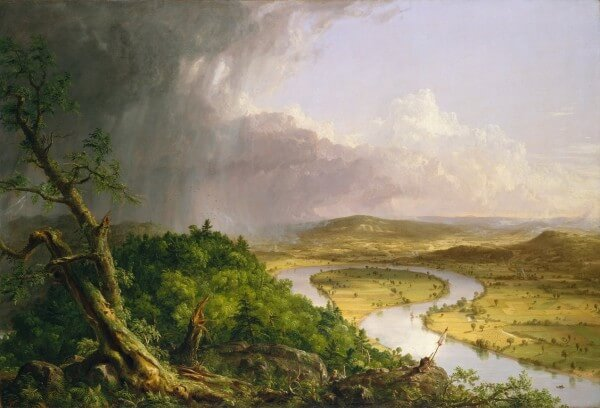 View from Mount Holyoke Northampton Massachusetts after a Thunderstorm – The Oxbow (1836) – Thomas Cole