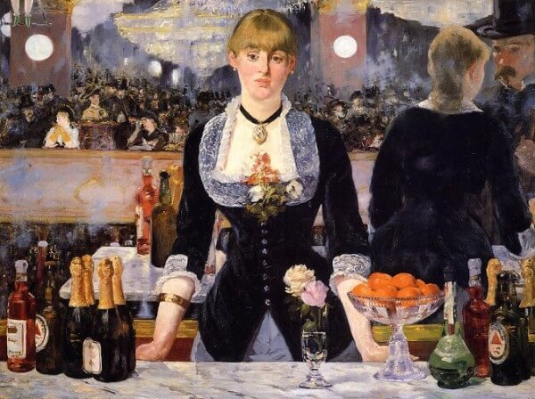 The Bar at the Folies Bergere – Edouard Manet