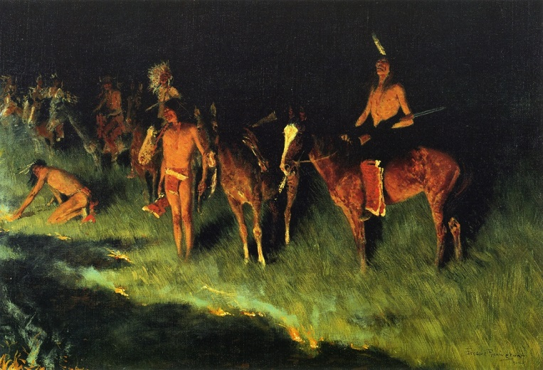 Frederic Remington The Grass Fire