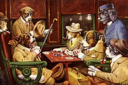 Dogs Playing Poker - C.M. Coolidge