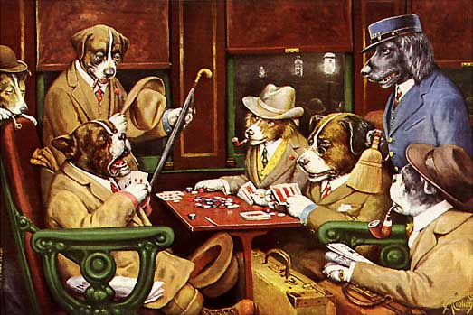 Dogs Playing Poker – C.M. Coolidge