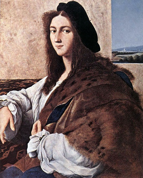 Portrait of a Young Man by Raphael, c.1513-1514