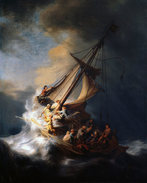The Storm on the Sea of Galilee – Rembrandt