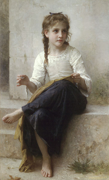 Sewing by William-Adolphe Bouguereau
