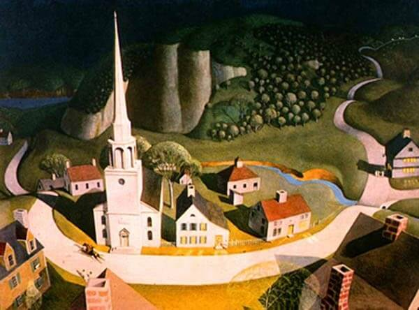 The Midnight Ride of Paul Revere – Grant Wood