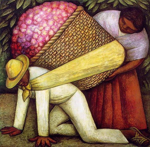 The Flower Carrier – Diego Rivera