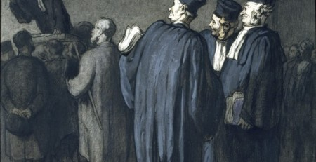 The Lawyers by Honore Daumier