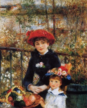 Two Sisters (On The Terrace) - Pierre Auguste Renoir