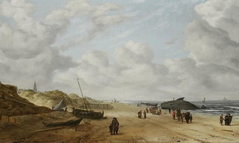 View of Scheveningen Sands by Hendrick van Anthonissen, 1641