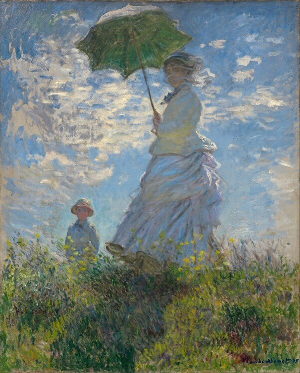 Woman with a Parasol – Claude Monet