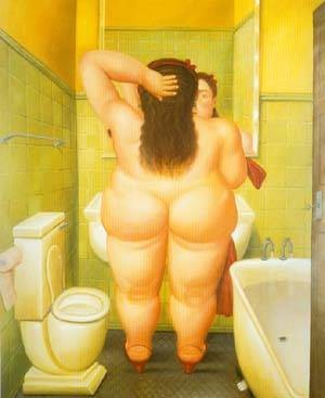 The Bathroom - Fernando Botero