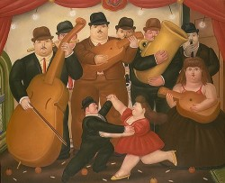 Ball In Colombia - Fernando Botero