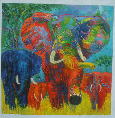 custom painting elephant