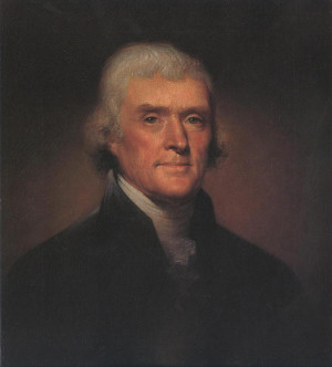 Portrait of Thomas Jefferson - Rembrandt Peale