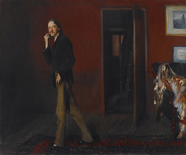 A portrait of Robert Louis Stevenson with his wife